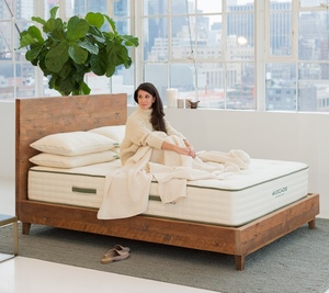 avocado solid wood bed frame