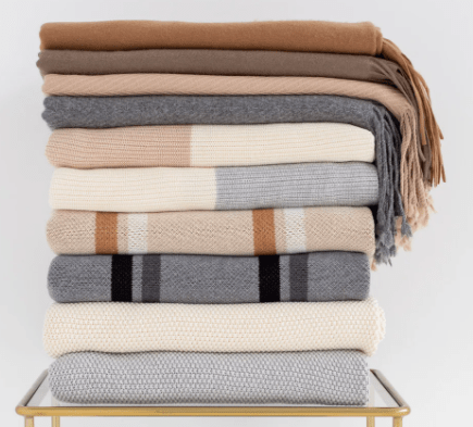 Natural Throw Blankets by Avocado Green