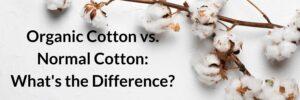 organic cotton vs normal cotton
