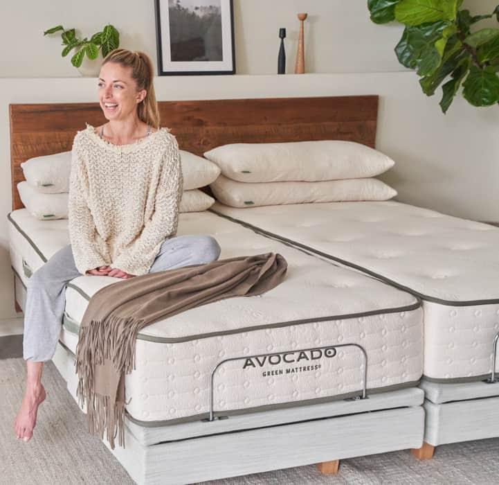Organic Adjustable Bed Frame Base by Avocado