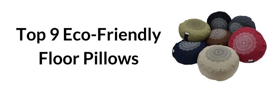 eco friendly floor pillows