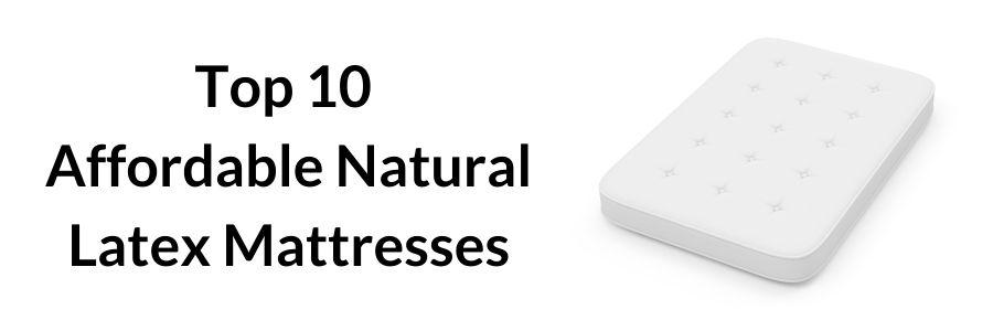 cheap natural latex mattress