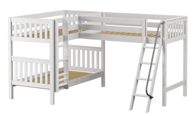 MaxTrixKids Non-Toxic Triple Bunk Bed