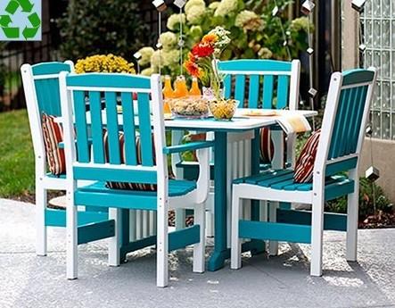 Poly Lumber 5-Piece English Dining Garden Set