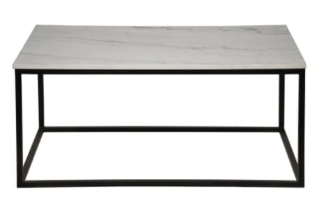 Manning Metal Coffee Table w/ Quartz Top