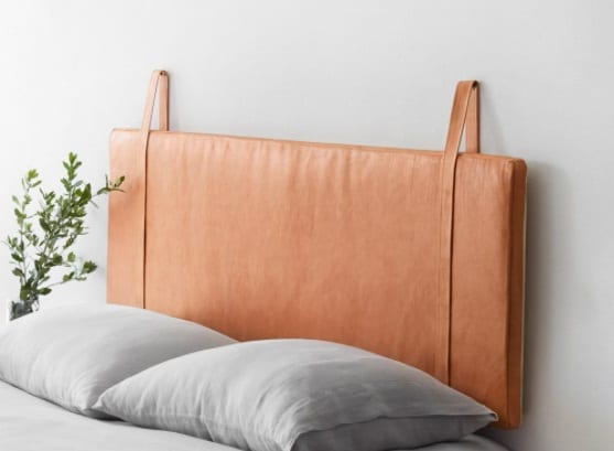 Hanging Leather Headboard by The Citizenry