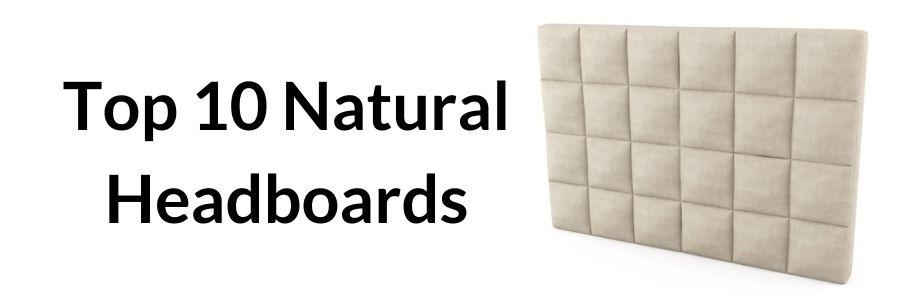 natural headboard